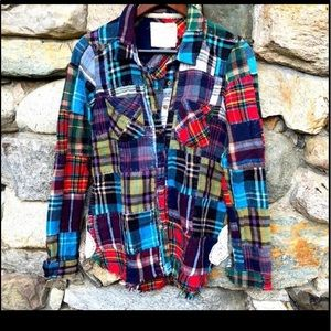 Free People- Lost in Plaid patchwork shirt